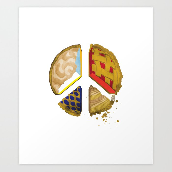 Pie of peace Art Print