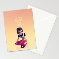 Tattoo girl Stationery Cards