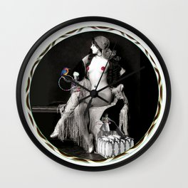 Virginia Biddle Thinks About Hooping Wall Clock