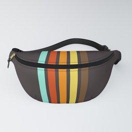 Five Colorful Retro Stripes 19 Fanny Pack
