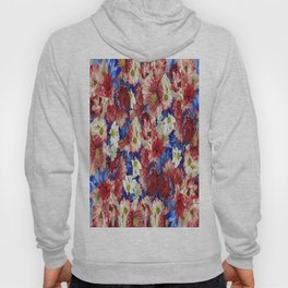 Red White Blue Flora Hoody