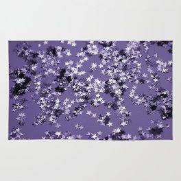 Ultra Violet Glitter Stars #1 #shiny #decor #art #society6 Rug