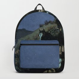 Frederic Remington - The Old Stage - Coach of the Plains - Digital Remastered Edition Backpack