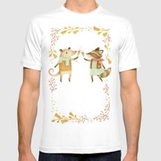 Cheers! From Pinknose the Opossum & Riley the Raccoon Mens Fitted Tee White MEDIUM