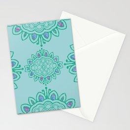 batik mandala Stationery Cards
