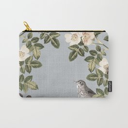 Birds and the Bees Gray Carry-All Pouch