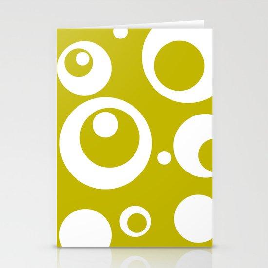 Circles Dots Bubbles :: Citron Stationery Cards