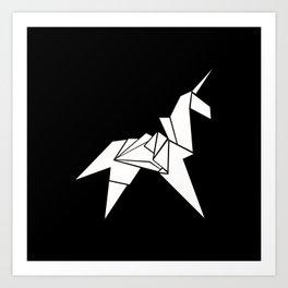 Unicorn Origami Art Print