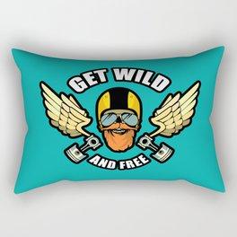 Get Wild And Free Rectangular Pillow