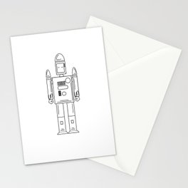Robots Lines Stationery Cards