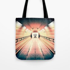 Robot Guarding Tunnel Tote Bag