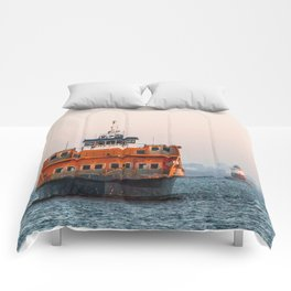 Lighthouse & Staten Island Ferry Comforters