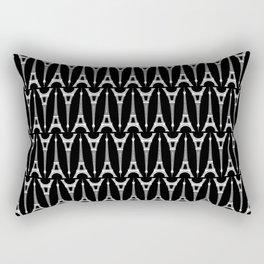 White Eiffel Towers on Black Rectangular Pillow