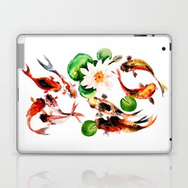 Koi Fish in Pond, Feng Shui Laptop & iPad Skin