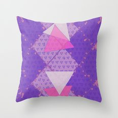 Triangular Love Throw Pillow