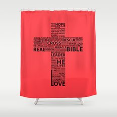 The base of it all it's love Shower Curtain