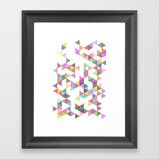 Technicolour Raindrops Framed Art Print