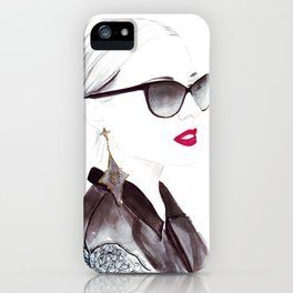 Watercolour Fashion Illustration Titled In Dior Zeli's iPhone Case