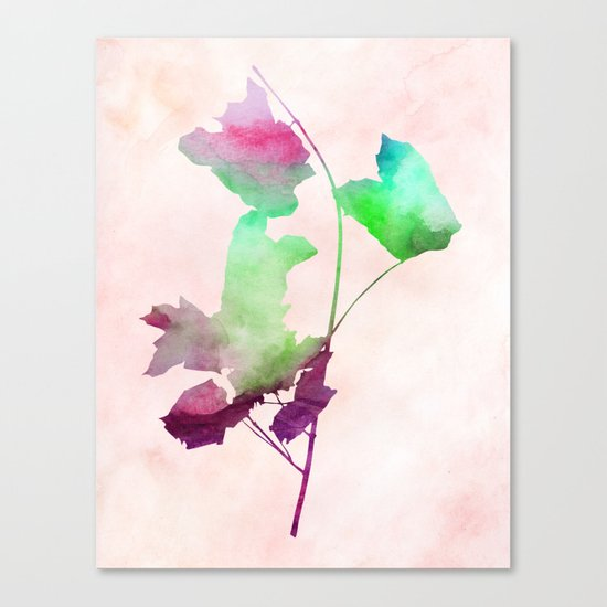 Maple_Watercolor2 by Jacqueline and Garima Canvas Print