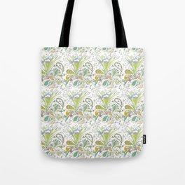 Whimsical Paisley Iris Tote Bag