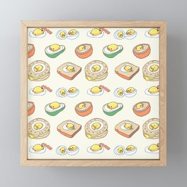 Pug Egg Recipes Framed Mini Art Print