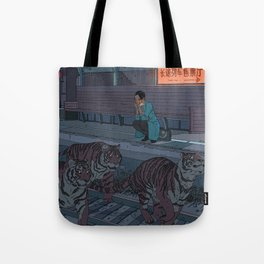 Tiger Station Tote Bag