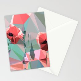 artificial poppies Stationery Cards
