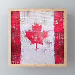 Canadian Flag Painting Tote Bag Abstract Maple Leaf Canada Framed Mini Art Print