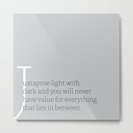 a letter to oneself : value Metal Print