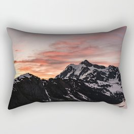 Pink Sky - Cascade Mountains - Nature Photography Rectangular Pillow