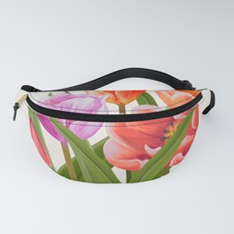 Colorful Flower Bouqet Painting Fanny Pack