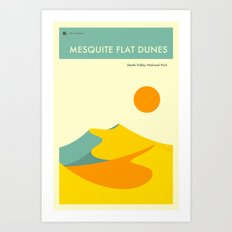 DEATH VALLEY NATIONAL PARK POSTER Art Print