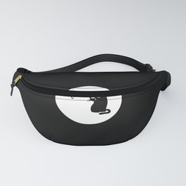 Cat and fish Fanny Pack