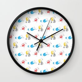 Polar Bear Triathletes Wall Clock