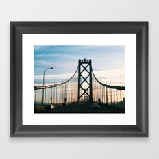 Bay Bridge Framed Art Print