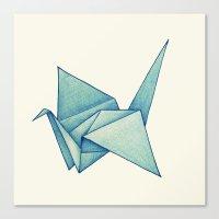 High Hopes   Origami Crane Canvas Print