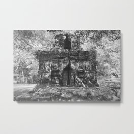 Temple of Chilkigarh Kanak Durga, West Bengal, India black and white photography / photographs Metal Print