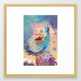 Goddess tenderness Framed Art Print