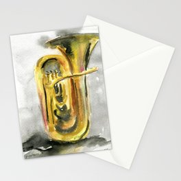 Solo tuba Stationery Cards