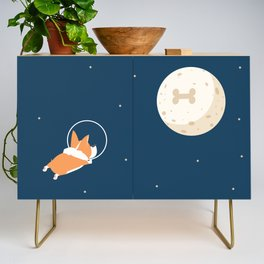 Fly to the moon _ navy blue version Credenza