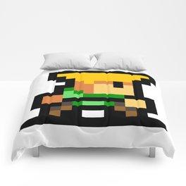 Minimalistic Guile - Pixel Art Comforters