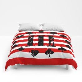 Three Percenter Aces USA Flag Comforters