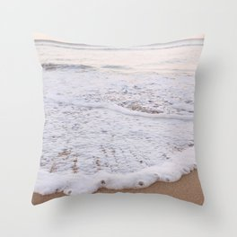 Rushing in Throw Pillow