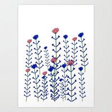 Flowers - floral - flowers - pattern Art Print