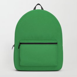 Solid Fresh Clover Green Color Backpack