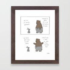 Sweatpants  Framed Art Print