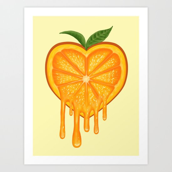 Love Orange Art Print