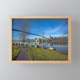 Sky-train Bridge Framed Mini Art Print