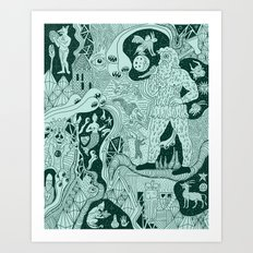Wizard Dreams Art Print