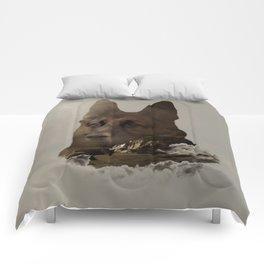 German Shepherd Double Exposure Comforters